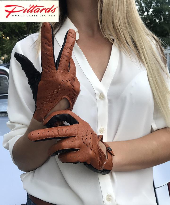 !BRANDNEU BRANDNEU! Stilvolle Zweifarbige Auto Lederhandschuhe